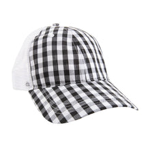 Load image into Gallery viewer, Gingham Trucker Hat