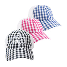Load image into Gallery viewer, View of our Gingham Trucker Hats