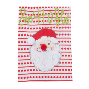 Front view of our Holiday Ho Ho Merry Santa Guest Towel