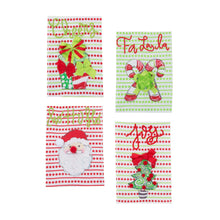 Front view of our Holiday Icon Guest Towels
