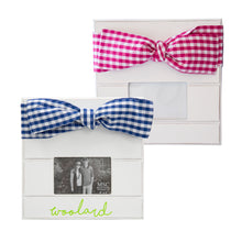 Load image into Gallery viewer, Monogrammed Gingham Bow Frames