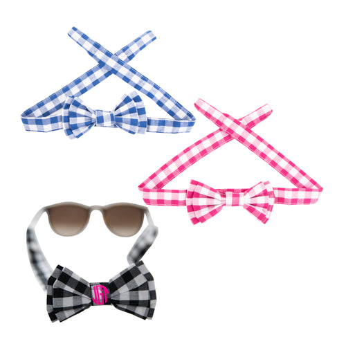 View of our Gingham Sunglass Straps