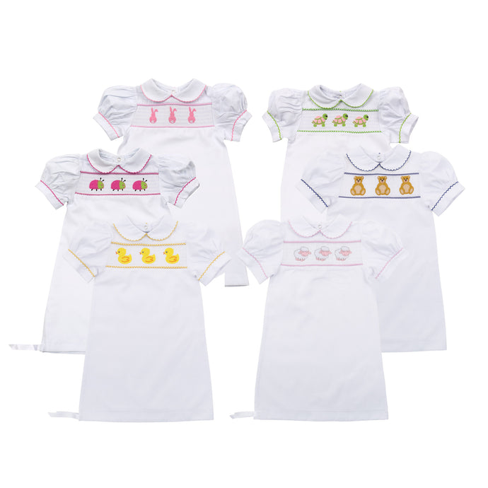 Our Monogrammed Girl Smocked Day Gowns