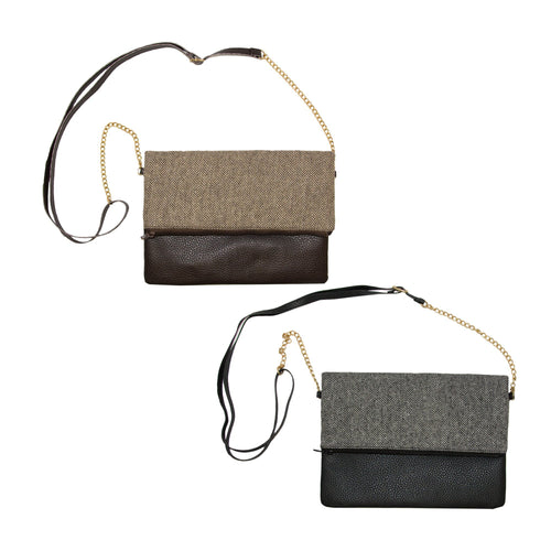 Herringbone Midtown Crossbody