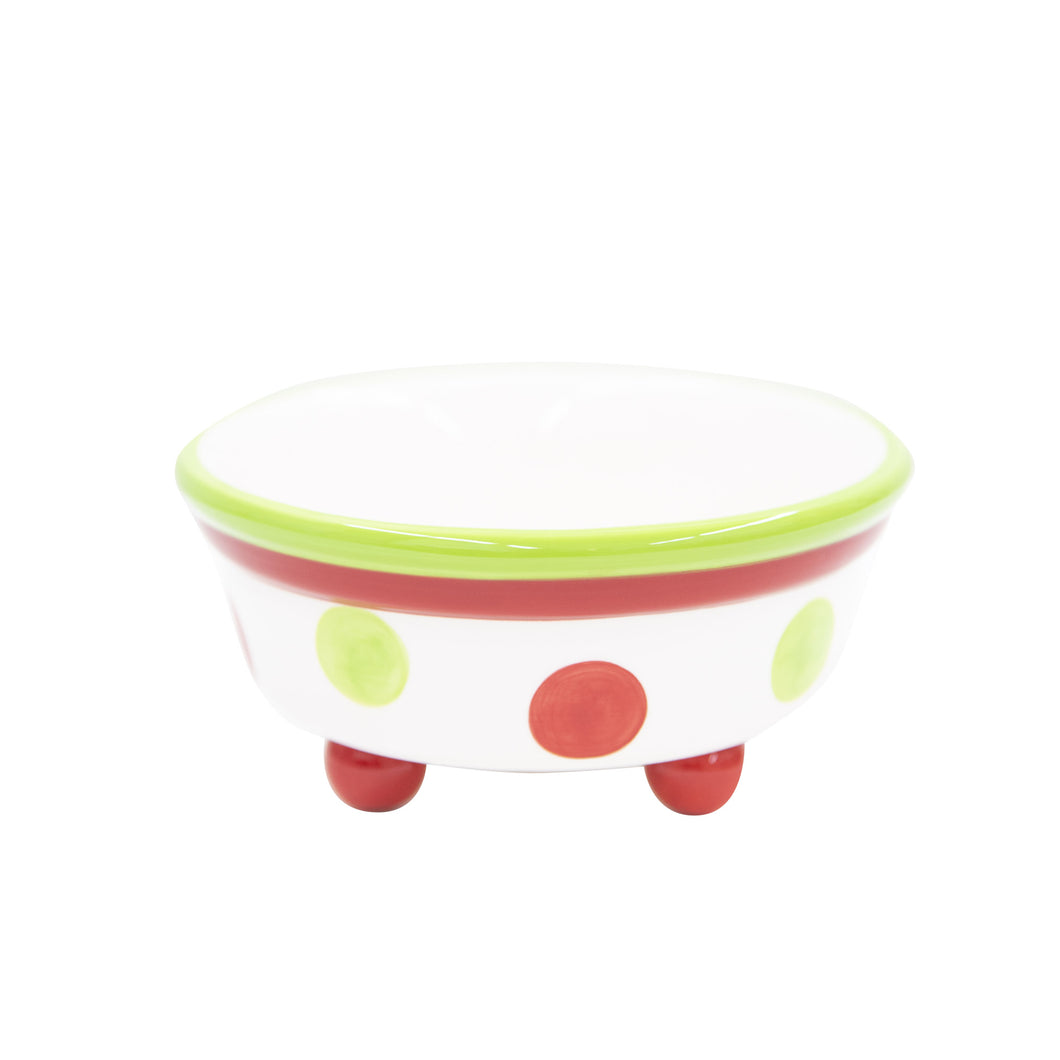 Holiday Ceramic Dot Candy Bowl