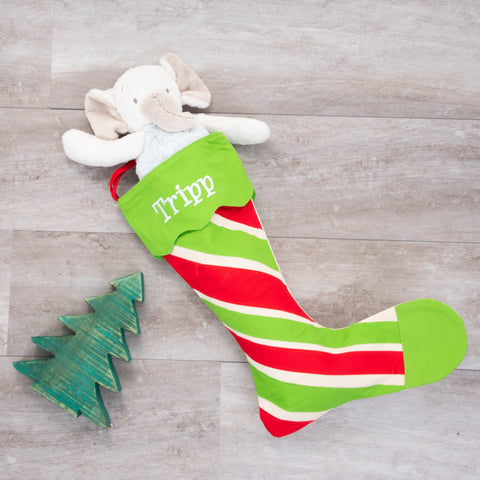 Lifestyle view of our Holiday Pattern Stocking