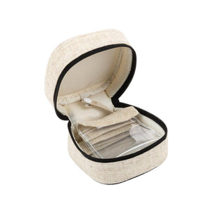 Linen Square Jewelry Case