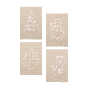 Front view of our Holiday Knot Linen Icon Towels