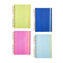 Front view of all 4 of our Lizard Notebook Journals, Green, Navy, Pink, Turquoise