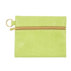 Front view of Green Lizard Kansas Pouch