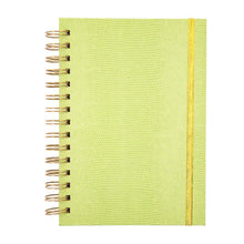 Front view of Green Lizard Notebook Journal