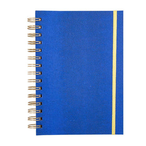 Front view of Navy Lizard Notebook Journal