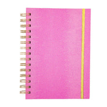 Front view of Pink Lizard Notebook Journal