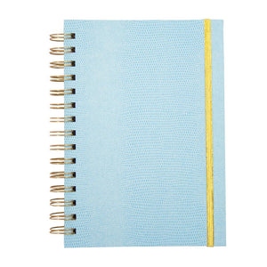 Front view of Turquoise Lizard Notebook Journal
