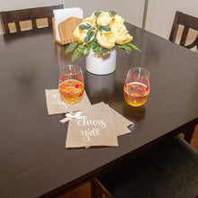 Linen cocktail napkin display
