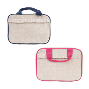 Linen Carolina Travel Cosmetic Bag