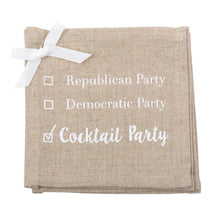 """Cocktail Party"" Linen Cocktail Napkins"