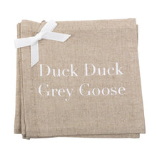 """Duck Duck Grey Goose"" Linen Cocktail Napkins"
