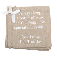 "Load image into Gallery viewer, ""Special Occasions"" Linen Cocktail Napkins"