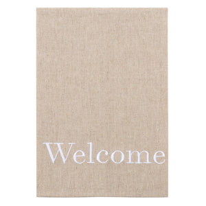 """Welcome"" Linen Guest Towel"