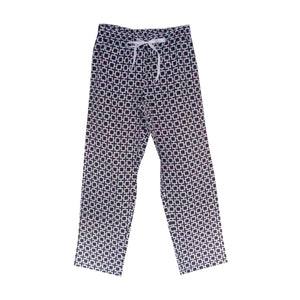 Front view of our Bold Squares Lounge Pants