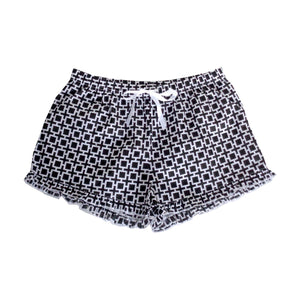 Front view of our Bold Squares Lounge Shorts