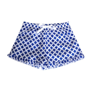 Front view of our Lattice Lounge Shorts