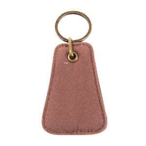 Front view of our Mocha Canvas Bottle opener Keychain