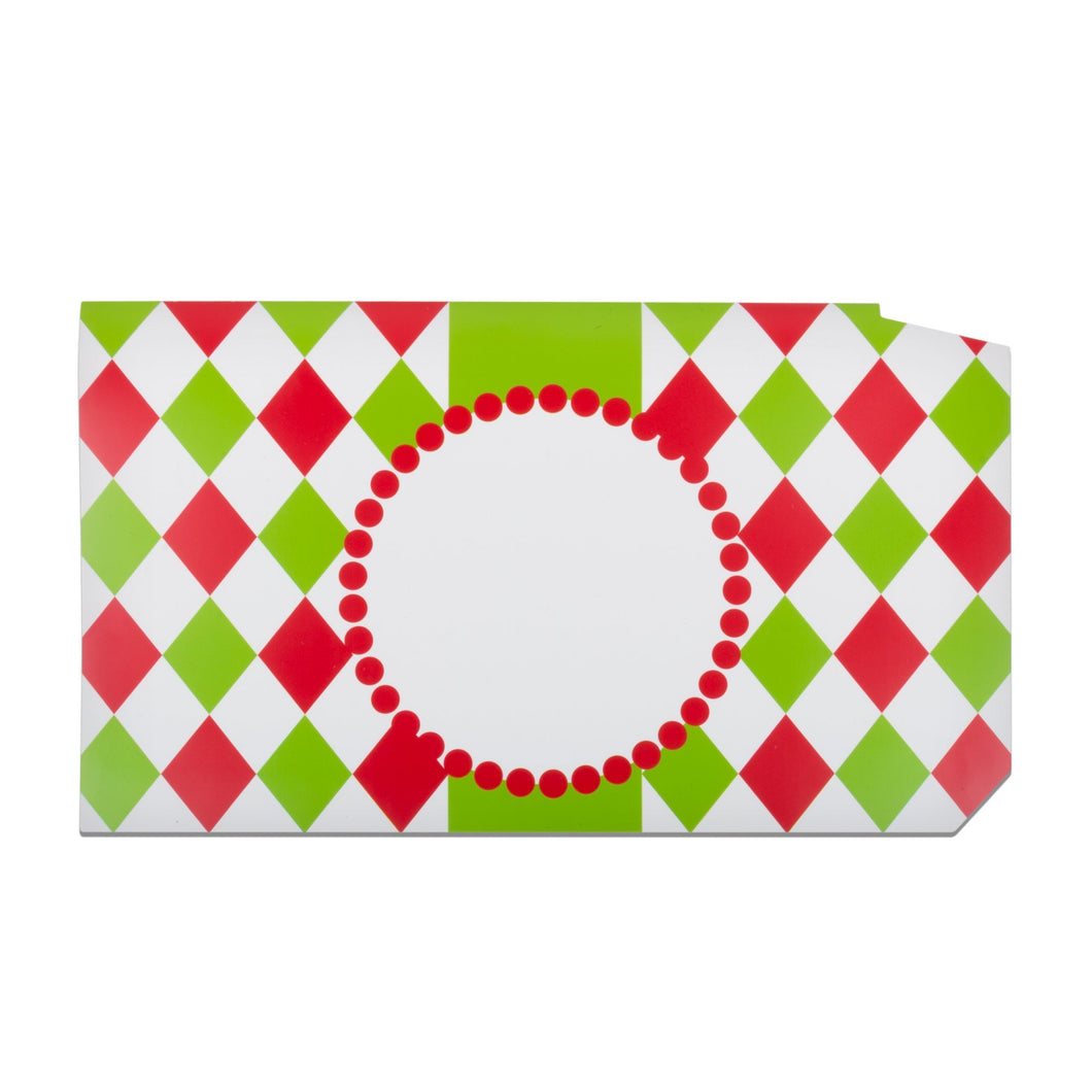 Front view of our Christmas Check Pattern Mailbox Cover