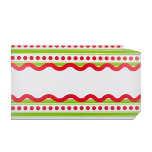 Front view of our Dotted Stripe Pattern Mailbox Cover