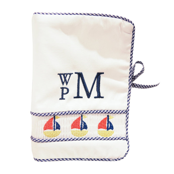 Monogrammed view of our Smocked Icon Photo Album
