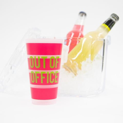 "Lifestyle view of ""Out of Office"" Versed Tumbler"