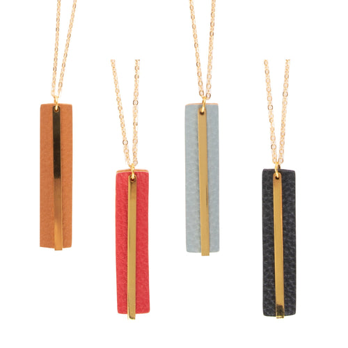 Front view of our Pebble Grain Accent Necklaces