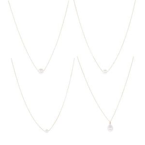 Front view of our Classic Pearl necklaces