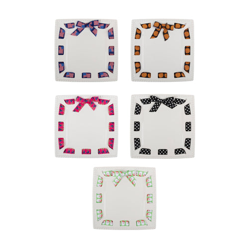Ceramic Ribbon Square Platter
