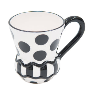 Side view of our Black Dot Coffee Mug