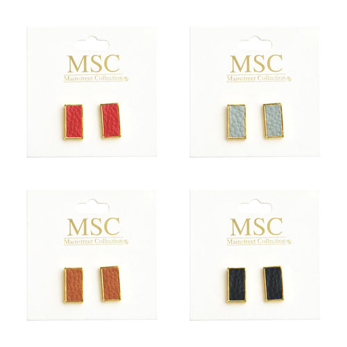 Top view of our Pebble Grain Rectangle Earrings