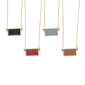 Top view of our Pebble Grain Rectangle Necklaces