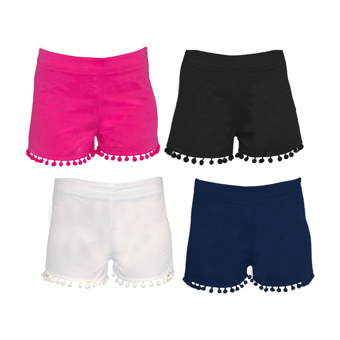 Front image of our Pom Pom Shorts