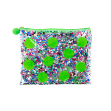 Load image into Gallery viewer, Confetti Flat Zipper Pouch