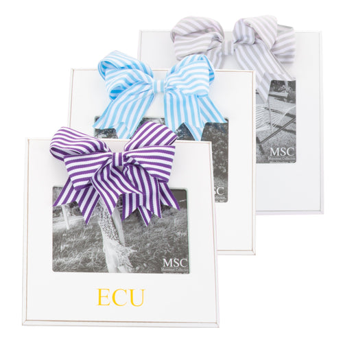 Monogrammed view of our Stripe Ribbon Frames