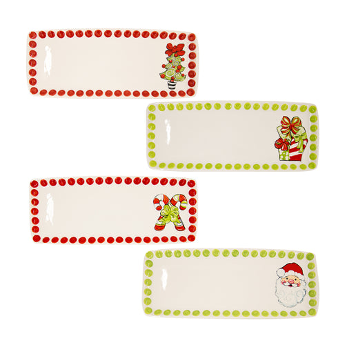 Holiday Ceramic Rectangle Platter
