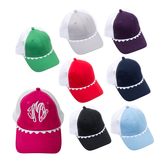 Ric rac trucker hat assortment