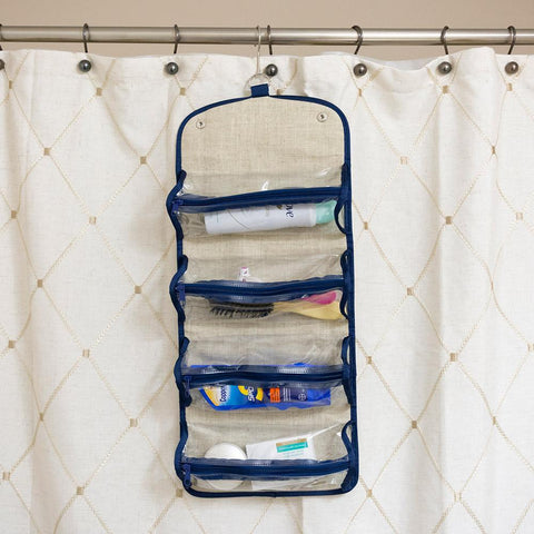 Linen Roll Up Cosmetic/Accessory Organizer