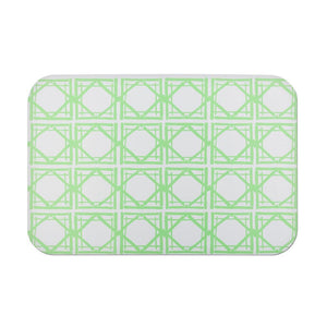 green lattice doormat, rug, rubber