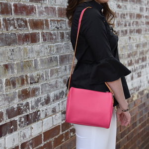Model with a Pink Spring Chic Crossbody