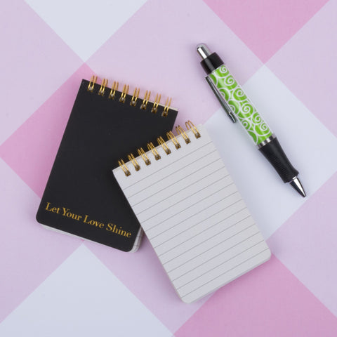Black & White Spiral Notepad Set