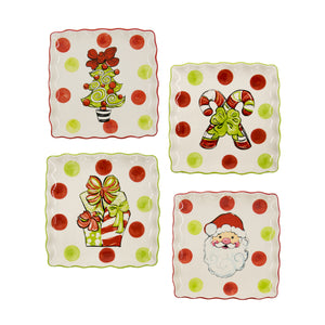 Holiday Icon Ceramic Square Platter