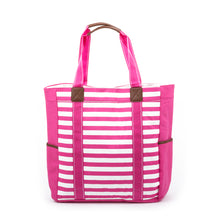 Load image into Gallery viewer, Pink Stripe Beach Tote