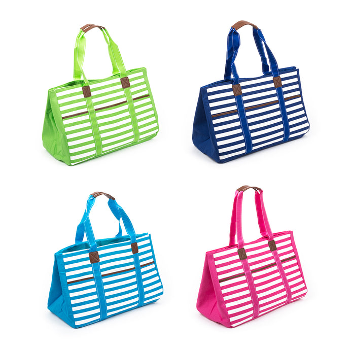 Stripe Towel Tote Colors